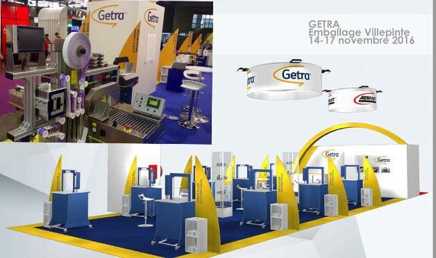 Stand Getra lors du salon All4Pack